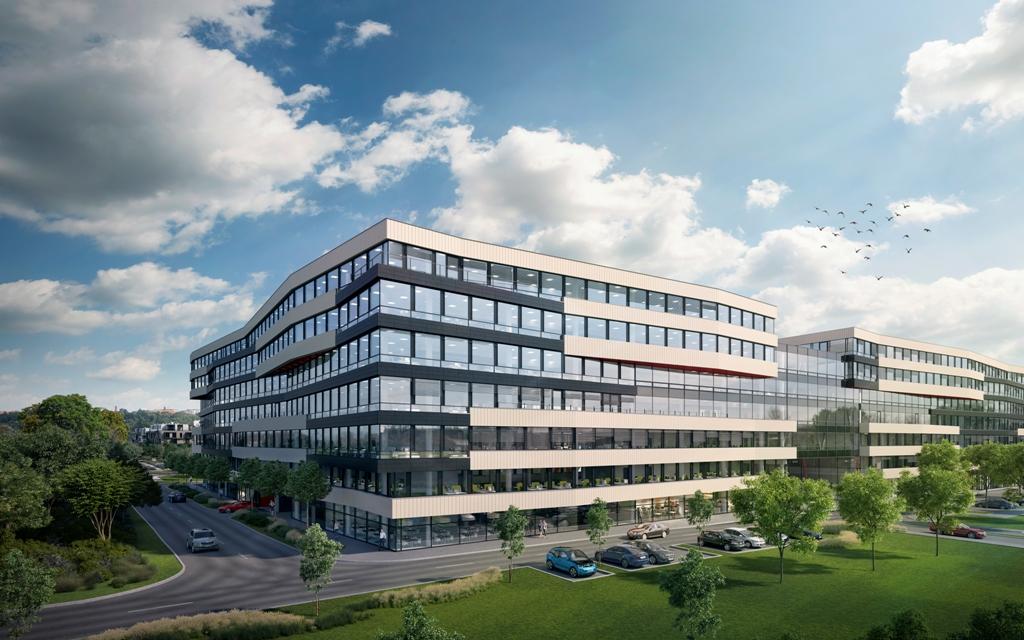 vizualizácia budúcej výstavby DOCK IN FIVE v Prahe