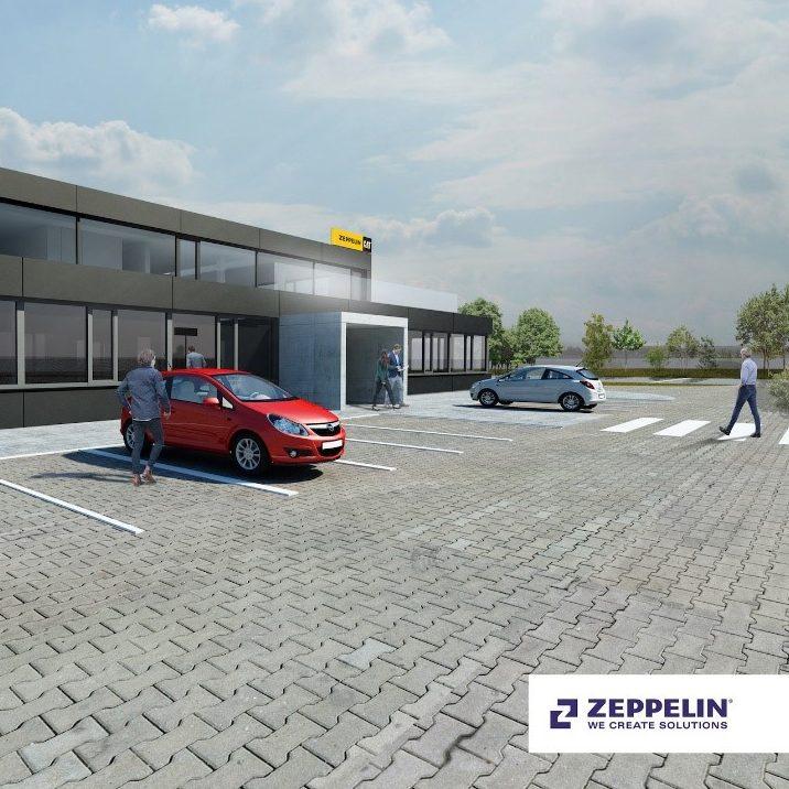 vizualizácia novej budovy pre spoločnosť Zeppelin SK